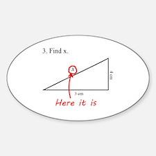 Find x Math Problem Decal