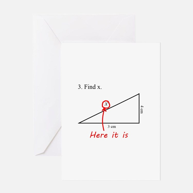 Find x Math Problem Greeting Card