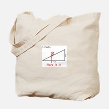 Find x Math Problem Tote Bag