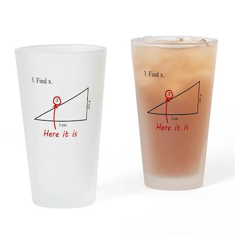 Find x Math Problem Drinking Glass