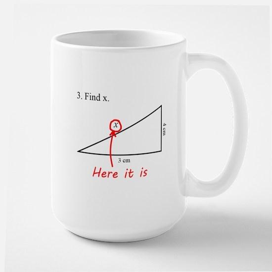 Find x Math Problem Large Mug