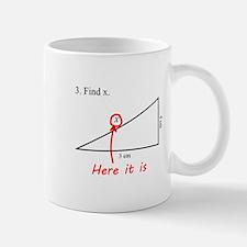 Find x Math Problem Mug