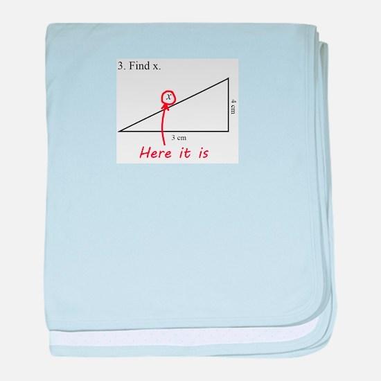 Find x Math Problem baby blanket