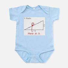 Find x Math Problem Infant Bodysuit