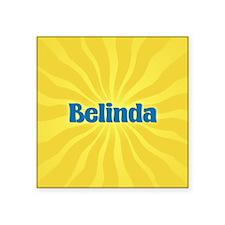 "Belinda Sunburst Square Sticker 3"" x 3"""