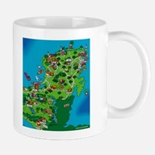 Yucatan Mexico Map Mug