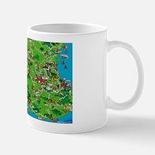 Southern Mexico Map Mug