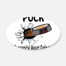 Puck Congenital Heart Defects Oval Car Magnet