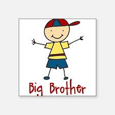 "Big Brother Square Sticker 3"" x 3"""