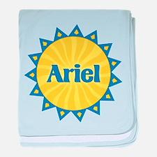 Ariel Sunburst baby blanket