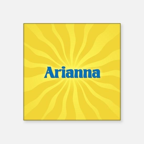 """Arianna Sunburst Square Sticker 3"""" x 3"""""""