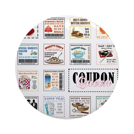 COUPON QUEEN Ornament (Round)
