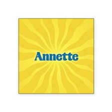 "Annette Sunburst Square Sticker 3"" x 3"""