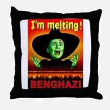 HILLARY LIES Throw Pillow