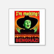 "Hillary Lies Square Sticker 3"" X 3"""