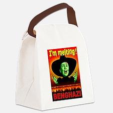 HILLARY LIES Canvas Lunch Bag
