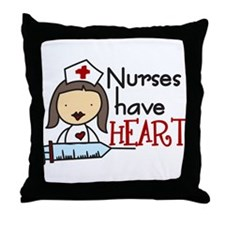 Nurses Have Heart Throw Pillow