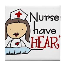 Nurses Have Heart Tile Coaster