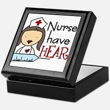 Nurses Have Heart Keepsake Box