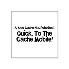 "Cache Mobile Square Sticker 3"" x 3"""