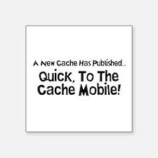 """Cache Mobile Square Sticker 3"""" x 3"""""""