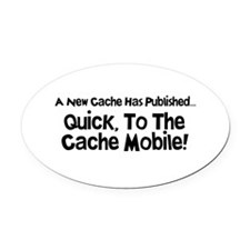 Cache Mobile Oval Car Magnet