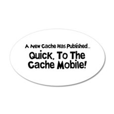 Cache Mobile 20x12 Oval Wall Decal