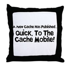 Cache Mobile Throw Pillow