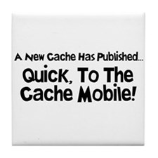 Cache Mobile Tile Coaster