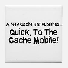 Cache Mobile Tile Coaster