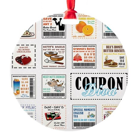 COUPON DIVA! Round Ornament