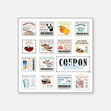 "COUPON DIVA! Square Sticker 3"" x 3"""