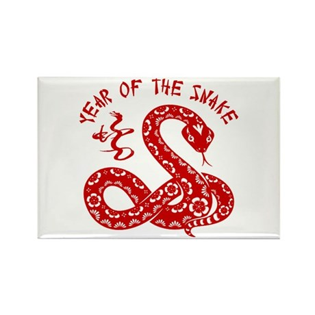 Year Of The Snake Rectangle Magnet