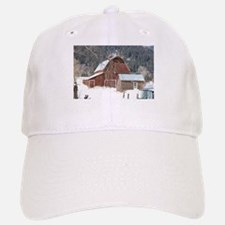 The Laclede Barn on a winters day Baseball Baseball Cap