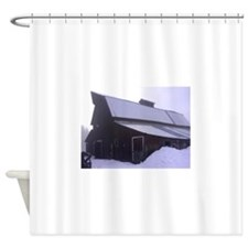 Cold day at the Laclede Barn Shower Curtain