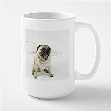 AEUC Fairy Princess Pug Large coffee Mug