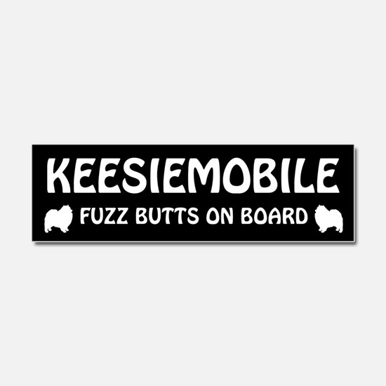 KEESIEMOBILE Fuzz Butts on Board Car Magnet 10 x 3