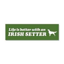 Life is Better with an Irish Setter Car Magnet