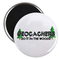 "Geocachers Do It In The Woods 2.25"" Magnet (10 pac"