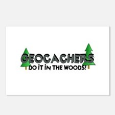 Geocachers Do It In The Woods Postcards (Package o