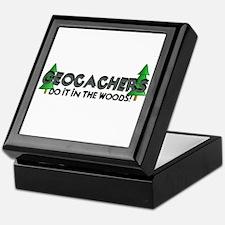 Geocachers Do It In The Woods Keepsake Box