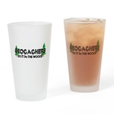 Geocachers Do It In The Woods Drinking Glass