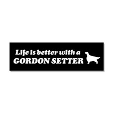Life is Better with a Gordon Setter Car Magnet