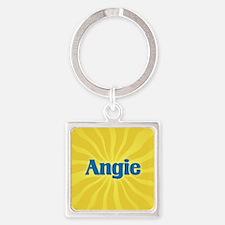 Angie Sunburst Square Keychain