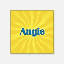"Angie Sunburst Square Sticker 3"" x 3"""