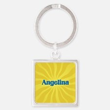 Angelina Sunburst Square Keychain
