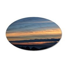 Columbia River Sunset 20x12 Oval Wall Decal