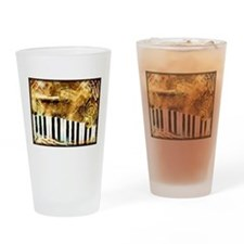 Musical Grunge Drinking Glass