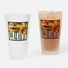 Musical Grunge Drinking Glass