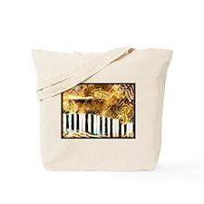 Musical Grunge Tote Bag